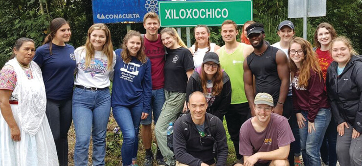 Carroll University Group in Cuetzalan Mexico